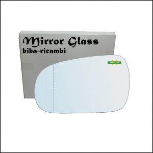 Vetro Specchio Retrovisore Cromato Asferico Lato Sx-Guidatore Per Honda Accord V dal 1990-1997