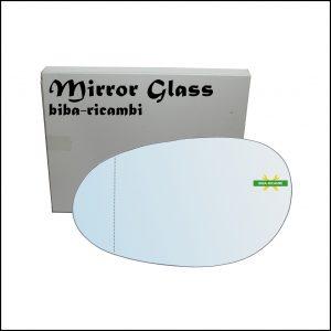 Vetro Specchio Retrovisore Asferico Lato Sx-Guidatore Per Smart ForTwo I (450) dal 2004-2007