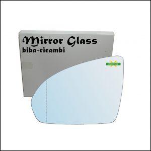 Vetro Specchio Retrovisore Asferico Lato Sx-Guidatore Per Smart ForTwo II (451) dal 2007>