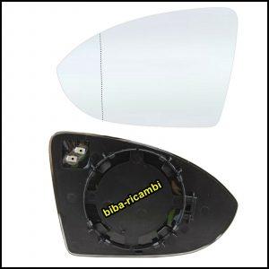 Piastra Specchio Completa Di Vetro Termico Asferico Lato Sx-Guidatore  Per VW GOLF SPORTSVAN (AM1) dal 2014>