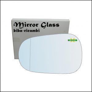 Vetro Specchio Retrovisore Asferico Lato Sx-Guidatore Per Dacia Logan I (LS) dal 2004>