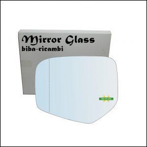 Vetro Specchio Retrovisore Asferico Cromato Lato Sx-Guidatore Per Mitsubishi L200 II (KA_T) dal 2004-2015