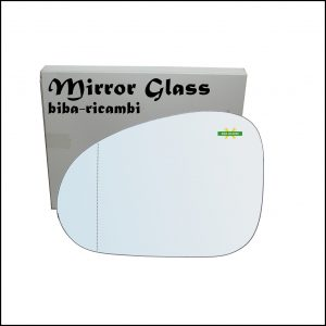 Vetro Specchio Retrovisore Asferico Lato Sx-Guidatore Per Chevrolet Matiz (M200) dal 2005>