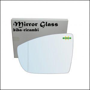 Vetro Specchio Retrovisore Asferico Lato Sx-Guidatore Per Ford C-max II (DXA) dal 2010>