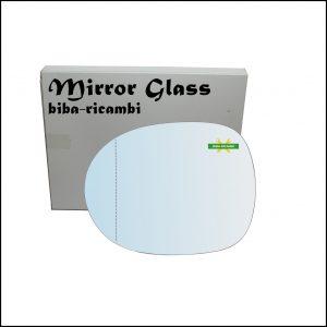 Vetro Specchio Retrovisore Asferico Lato Sx-Guidatore Per Honda Civic VIII (FN,FK) dal 2005-2011