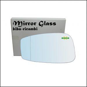 Vetro Specchio Retrovisore Cromato Asferico Lato Sx-Guidatore Per Fiat Stilo (192) dal 2001-2009