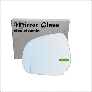 Vetro Specchio Retrovisore Cromato Asferico Lato Sx-Guidatore Per Suzuki Splash (EX) dal 2008>