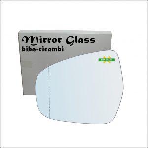 Vetro Specchio Retrovisore Asferico Lato Sx-Guidatore Per Suzuki SX4 S-Cross (JY) dal 2013>