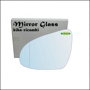 Vetro Specchio Retrovisore Asferico Lato Sx-Guidatore Per Citroen C1 II (PA) dal 2014>