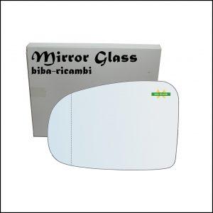 Vetro Specchio Retrovisore Asferico Lato Sx-Guidatore Per Subaru Trezia dal 2010>