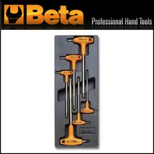 Modulo rigido + 6 chiavi maschio esagonale piegate con impugnatura BETA T52