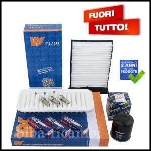 Kit Tagliando Filtri | Candele Per Toyota Yaris 1.000 VVT-i 51kw/69cv dal 2005>