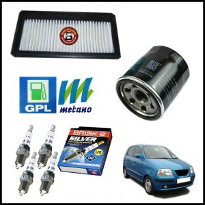 Kit Tagliando Filtri | Candele Per Hyundai Atos Prime 1.000 40kw/54cv dal 1999>