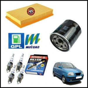 Kit Tagliando Filtri | Candele Per Hyundai Atos Prime 1.100 43kw/58cv dal 2003>