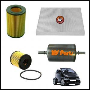 Kit Tagliando Filtri Per Smart Cabrio (450) 0.600 40kw/55cv dal 2000>