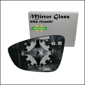 Piastra Specchio Retrovisore Asferico Termico Lato Dx-Passeggero Per Volkswagen Beetle Maggiolino dal 2011>