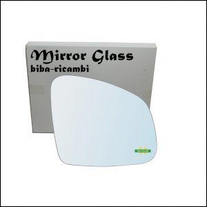 Vetro Specchio Retrovisore Cromato Lato Dx-Passeggero Per Smart ForFour II (453) dal 2014>