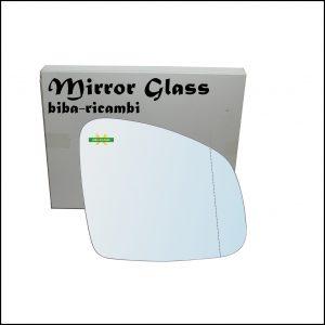 Vetro Specchio Retrovisore Cromato Asferico Lato Dx-Passeggero Per Smart ForFour II (453) dal 2014>