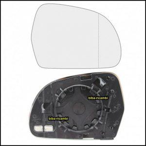 Piastra Specchio Retrovisore Asferico Termico Lato Dx-Passeggero Per Audi A3 II (8P1) solo dal 2008 fino al 2010