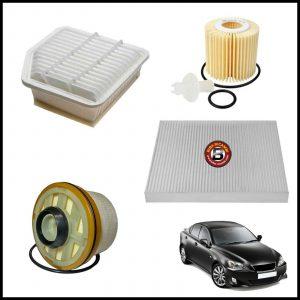Kit Tagliando Filtri Per Lexus IS 2.200 D 130kw/177cv dal 2005>