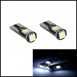 LAMPADINE LED LUCI POSIZIONE TARGA INTERNI AUTO T10 3 SMD CANBUS W5W XENON 6000K BIANCO FREDO