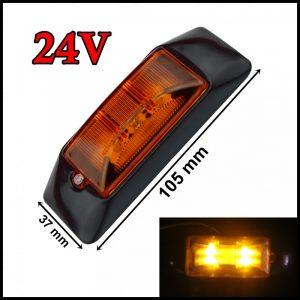 SEGNALATORE LUCE INGOMBRO LATERALE LED 4 LED / SMD 24V GIALLO CAMION RIMORCHI