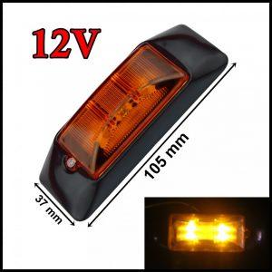 SEGNALATORE LUCE INGOMBRO LATERALE LED 4 LED / SMD 12V GIALLO CAMION RIMORCHI