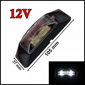 SEGNALATORE LUCE INGOMBRO LATERALE LED 4 LED / SMD 12V BIANCO CAMION RIMORCHI