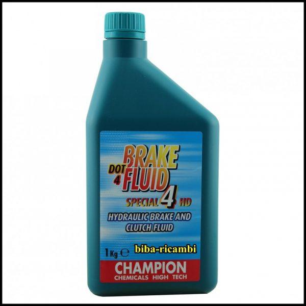 OLIO FRENI BRAKE FLUID DOT 4 ORIGINALE CHAMPION 1000 ml.