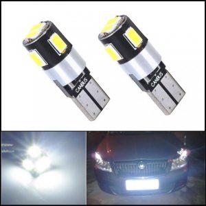 COPPIA LAMPADINE LED T10 6 SMD CANBUS PREMIUM