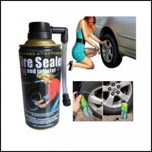Gonfia e ripara forature pneumatici gomme