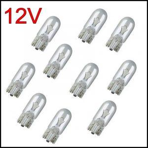 10 X LUCI DI POSIZIONE LAMPADINE TUTTO VETRO T10 12V 5W