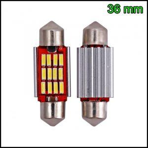 2 LAMPADINA LED SILURO C5W 36 mm CANBUS NO ERRORE 12 LED SMD 4014