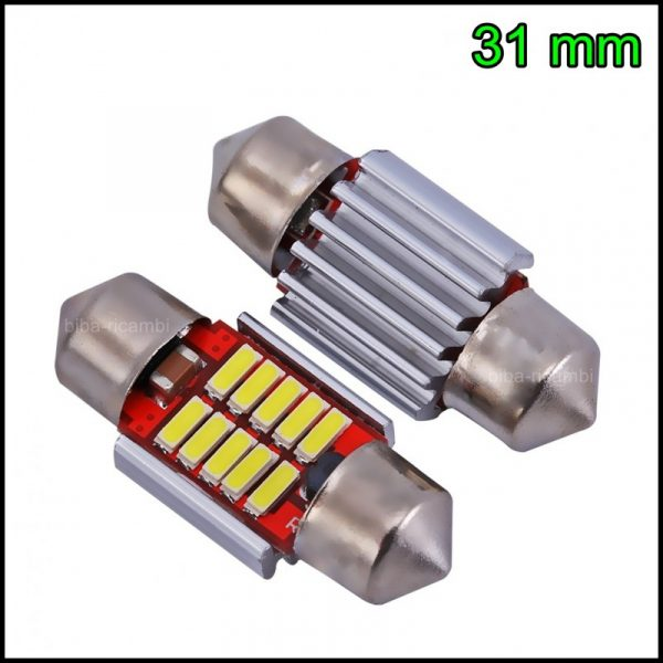2 LAMPADINA LED SILURO C5W 31 mm CANBUS NO ERRORE 10 LED SMD 4014