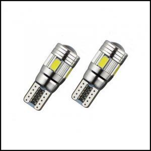 COPPIA LAMPADINE LED T10 W5W 6 SMD 5630 CANBUS PREMIUM