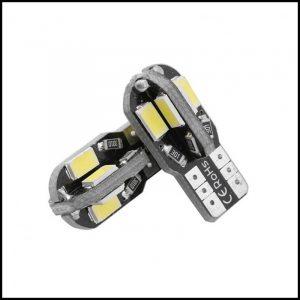 COPPIA LAMPADINE LED T10 8 SMD 5630 CANBUS PREMIUM