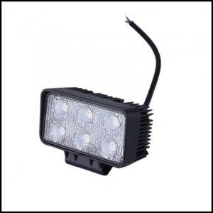 FARO RETTANGOLARE LUCE LED 12V/24  18W 8 LED