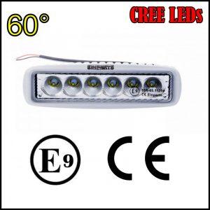 FARO LUCE LED OMOLOGATO 12V 18W 6 LED CREE 60°