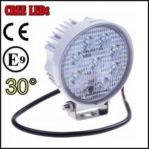 FARO LUCE LED OMOLOGATO 12V 27W 9 LED CREE 30°