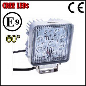 FARO LUCE LED OMOLOGATO 12V 27W 9 LED CREE 60°