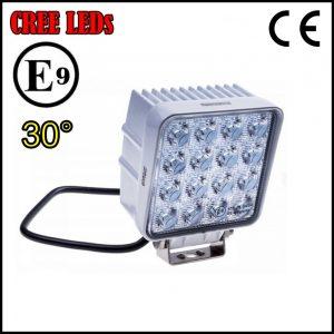 FARO LUCE LED OMOLOGATO 12V 48W 16 LED CREE 30°