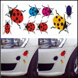 Adesivo Stickers Tuning coccinella per auto,