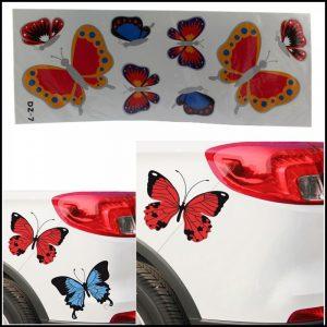 Adesivo Stickers Tuning farfalle per auto,