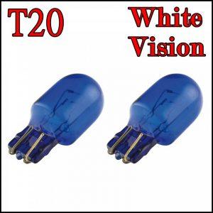 T20 12V / 21/5W WHITE VISION LAMPADINE 2 FILAMENTI