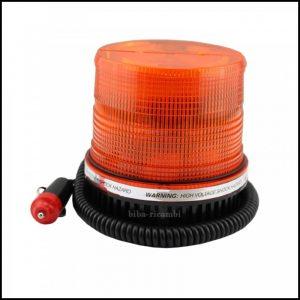 Lampada Luce Lampeggiante Led Arancione Strobo Calamitato 12V