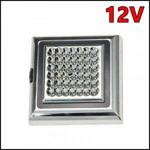 Plafoniera auto a led lampada soffitto luci interni per auto universale 12V