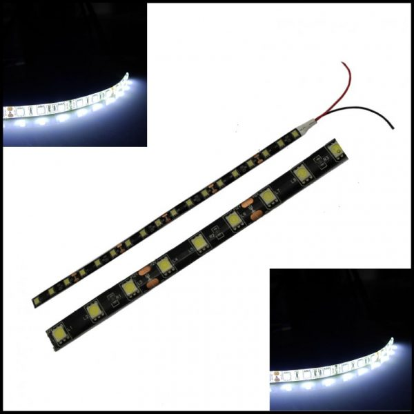 2 X STRISCIA LED 5050 SMD 30 cm bianca ultraluminosa luce 12V