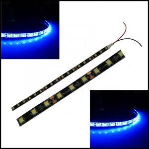 2 X STRISCIA LED 5050 SMD 30 cm BLU ultraluminosa luce 12V