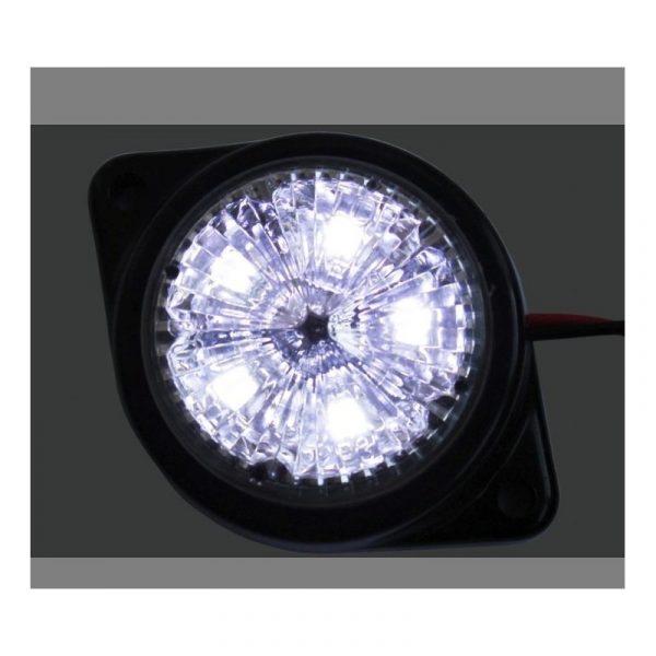 2 X SEGNALATORE LUCE A LED BIANCO INGOMBRO LATERALE 24V