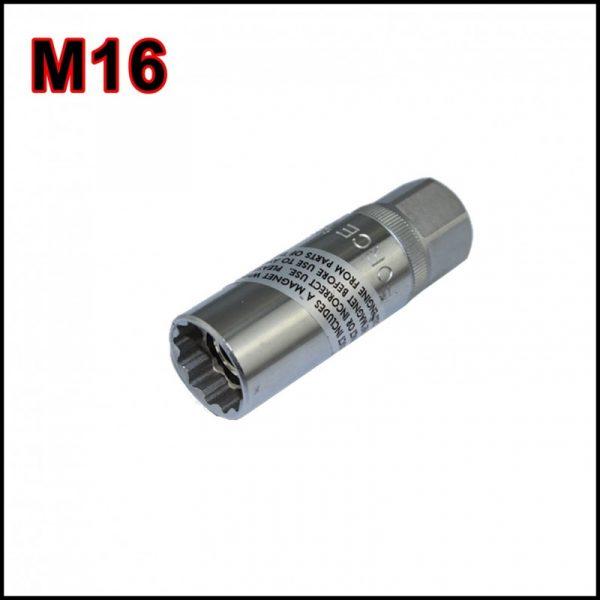 Chiave magnetica per candele di accensione  M16